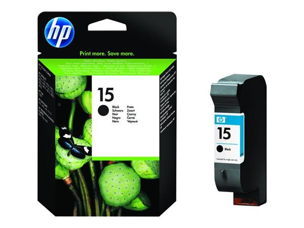 HP C6615DE Ink Cart No.15 pro DJ 84x,920,940,3820, 25ml, Black